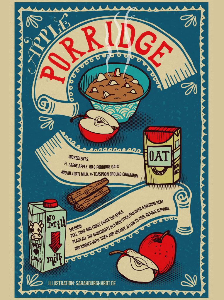 Retro illustration Porridge