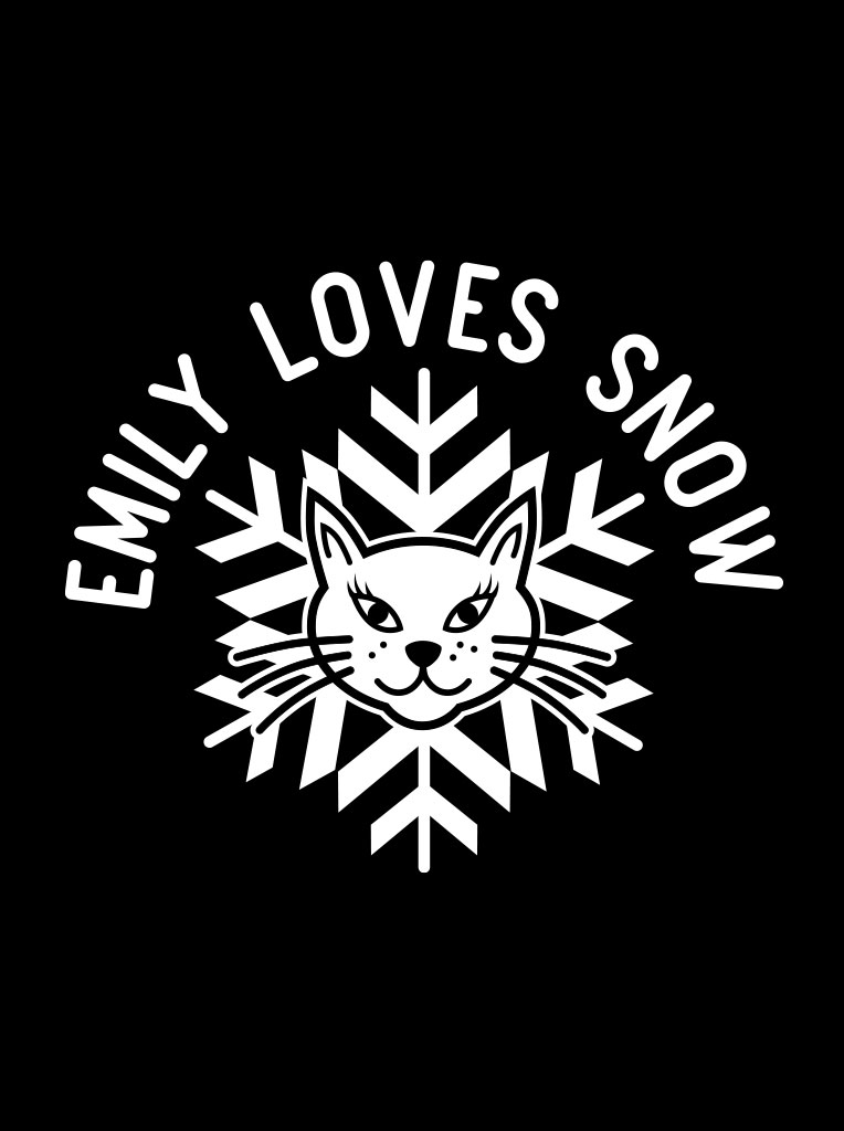 Emily loves snow logo