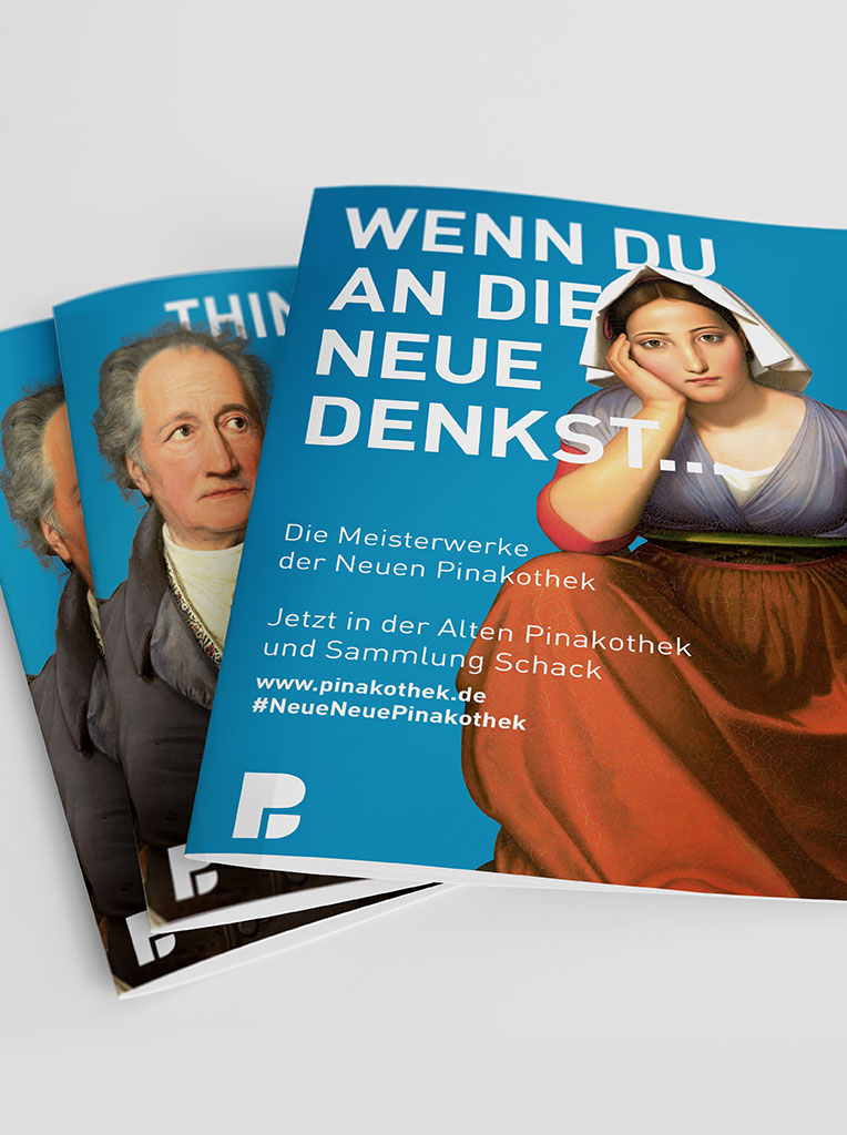 Pinakothek Flyer Layout Faltblatt
