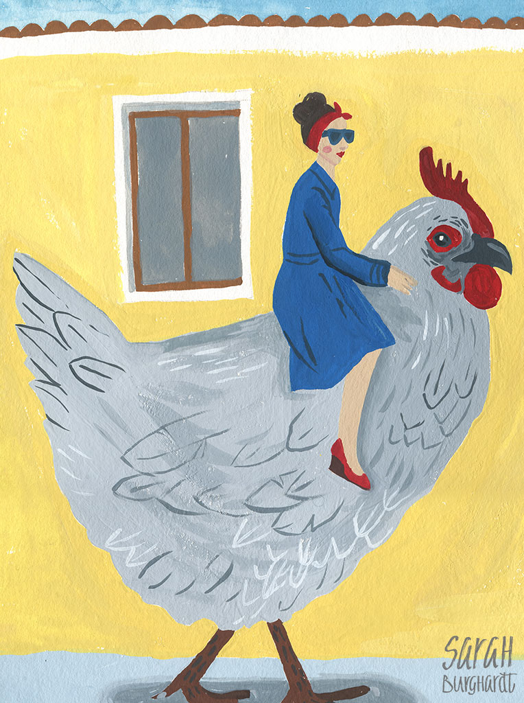 Sattelt die Hühner by Sarah Burghardt