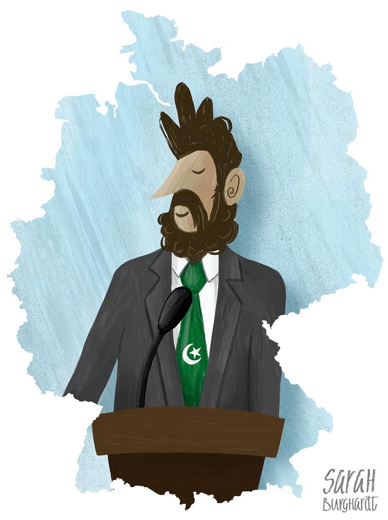 Illustration pakistanischer Immigrant