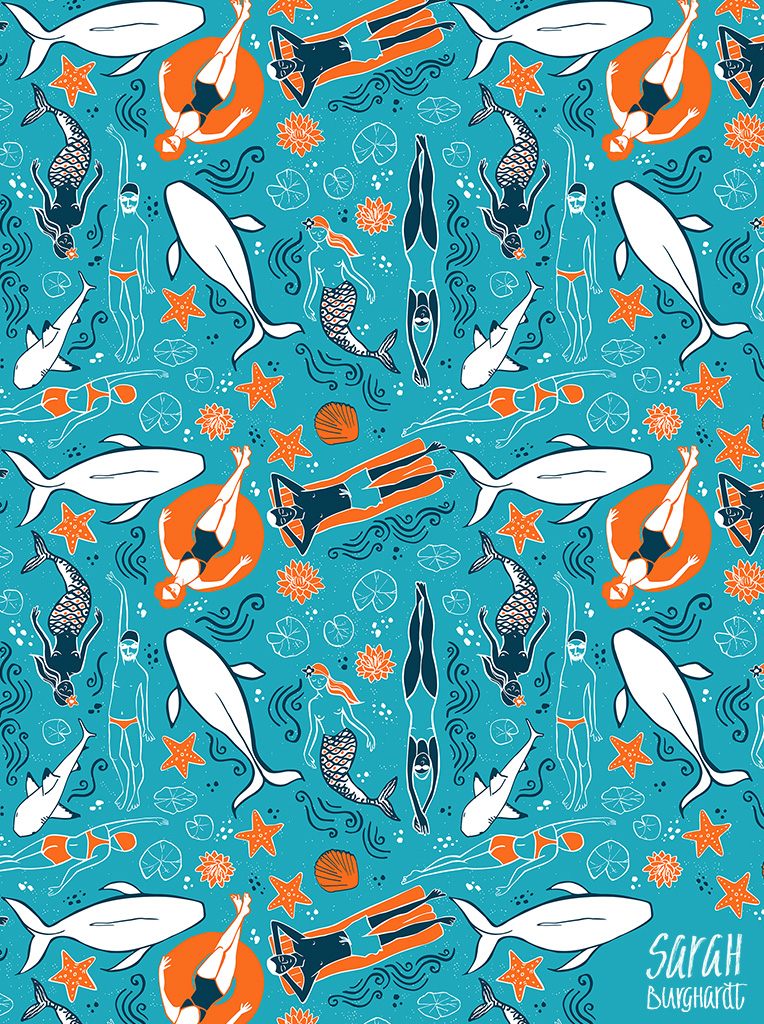 World water ways Pattern by SarahnBurghardt